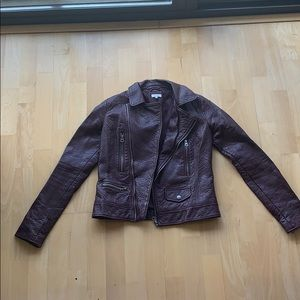 Plum Colored Leather Jacket